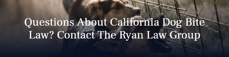 Questions About California Dog Bite Law? Contact The Ryan Law Group