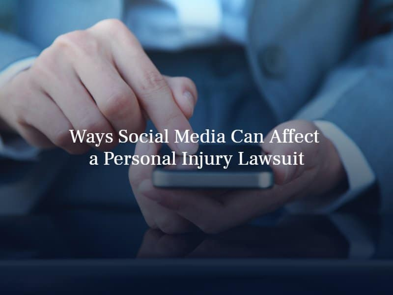 person holding a smartphone | text: ways social media can affect a personal injury lawsuit